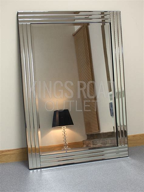 mirrored framed mirror grace silver glass framed rectangle bevelled wall mirror