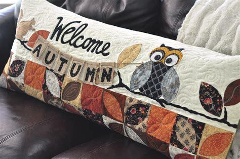 autumn bench pillow  sewing kimberbell designs