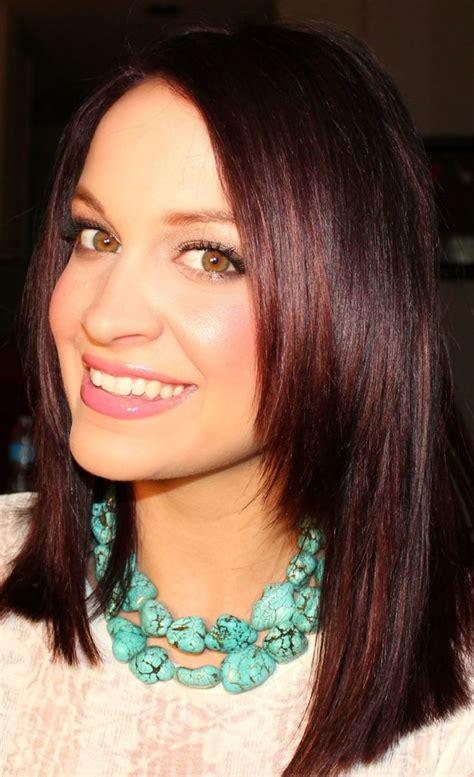 Best 25 Burgundy Brown Hair Color Ideas On Pinterest