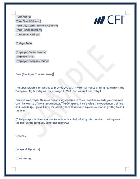 Letter Of Resignation Template Letter Of Resignation Template