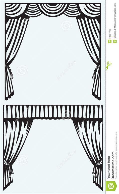 Silhouette Drapes - silhouette curtain stock photos image 34581063