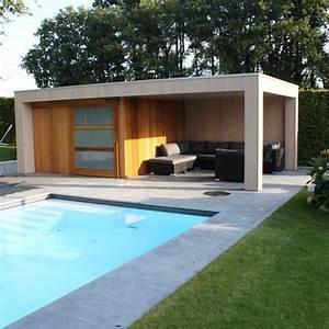 poolhouse de jardin maison bois un abri de jardin haut With amenagement exterieur maison contemporaine 10 gazebo et abri soleil des idees pour jardin avec piscine
