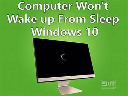 Wake Sleep Computer Windows Won Wont Through