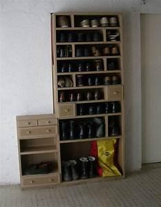Rangement à Chaussures : armoire chaussure sur mesure ~ Teatrodelosmanantiales.com Idées de Décoration