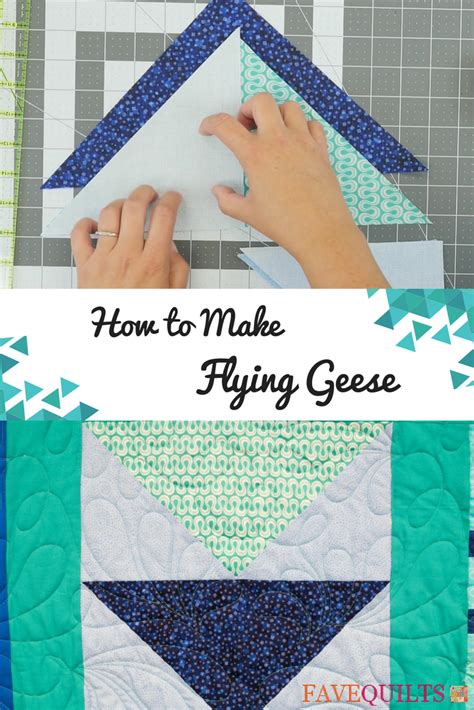 flying geese tutorial favequiltscom