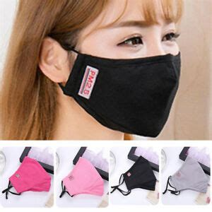 washable cotton face mouth mask pm anti dust pollution