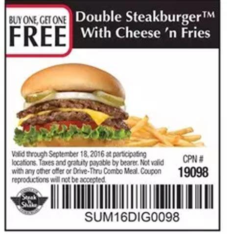 28570 Steak And Shake App Coupons steak n shake buy one get one free steakburger