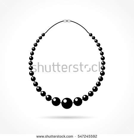 pearl necklace clipart black and white necklace stock images royalty free images vectors