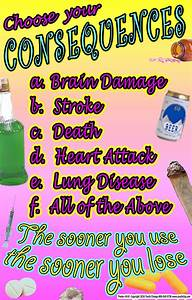 School Substance Abuse Prevention Posters for K-12 ...