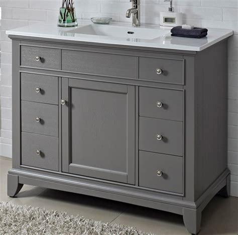 "Smithfield 42"" Vanity   Medium Gray   Fairmont Designs"