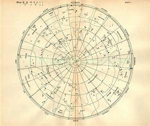1897 vintage star chart beautiful celestial by