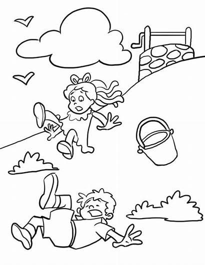 Nursery Rhymes Coloring Pages Printable Rhyme Jack
