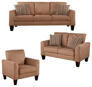 harley sofa 3 piece set mocha transitional living