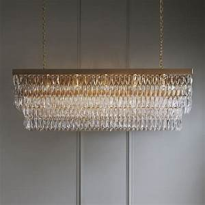 Clear crystal rectangular chandelier tigermoth lighting