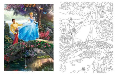 disney dreams collection thomas kinkade studios coloring