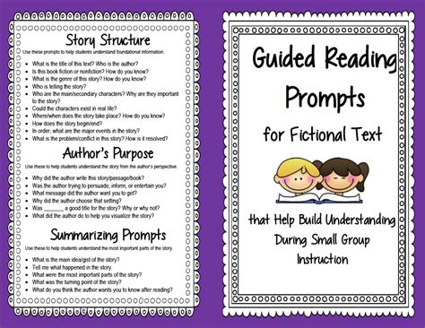 guided reading prompts  questions  improve
