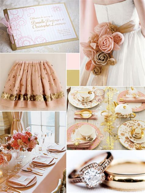 Pink and Gold Wedding Ideas OOSILE