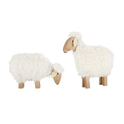 mouton maison du monde 2 moutons d 233 co en bois h 30 et h 50 cm p 194 ture maisons du monde