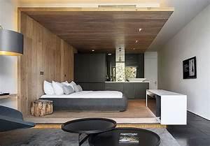 Deco Chambre Bois : d co de chambre moderne avec meubles et surfaces en bois ~ Melissatoandfro.com Idées de Décoration