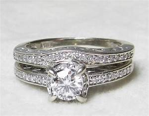 art deco wedding ring set diamond engagement ring matching With art deco wedding ring set
