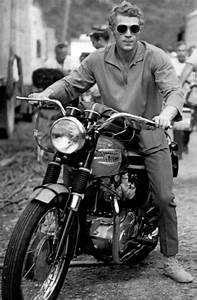 Steve McQueen and his Triumph Bonneville. Yup, they don't ...