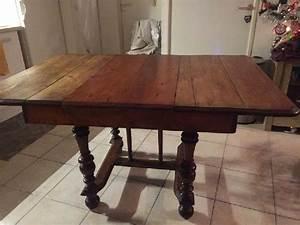 Table Bois Avec Rallonge : table ancienne bois massif clasf ~ Teatrodelosmanantiales.com Idées de Décoration