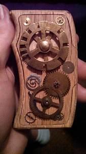 steampunked a wooden box mod vape by Cthulhupillar on