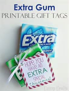 Extra Gum Gift Tags Printable