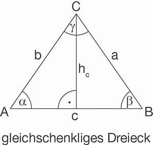 Höhe Gleichschenkliges Dreieck Berechnen : gleichschenkliges dreieck geometrie in der ebene mathe digitales schulbuch spickzettel ~ Themetempest.com Abrechnung