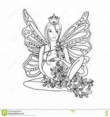 Coloring Pregnant Pregnancy Adult Fairy Lady Zentangle Butterfly Vector Care Bird sketch template