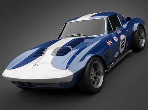 grandsport corvette sports car  cgtrader