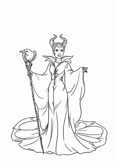 Coloring Evil Pages Maleficent Colouring Queen Printable