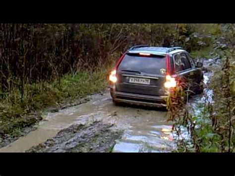 volvo xc reversing  swamp unexpected offroad youtube