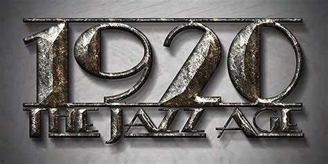 jazz age title design  scratch