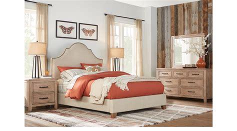 washed oak bedroom furniture alpine lake washed oak 5 pc king upholstered bedroom