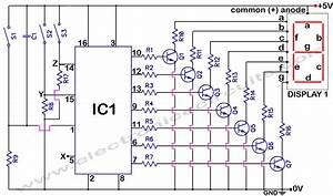 4033 7 Segment Common Anode Display Counter Circuit