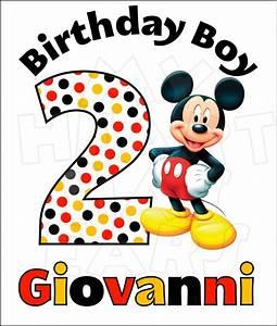 Disney Mickey Mouse Birthday image Custom Name and Age ...