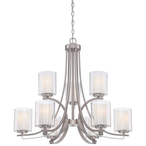 minka lavery parsons studio 9 light brushed nickel
