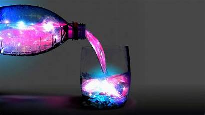 Galaxy Liquid Bottles Cosmos Wallpapers Cool Backgrounds