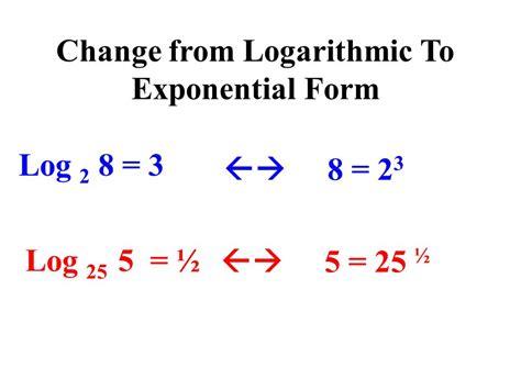 exponential form  log klisethegreaterchurchco