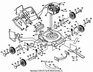 Poulan Pp740s Mower Parts Diagram For Mower Housing  Engine B  S 96902