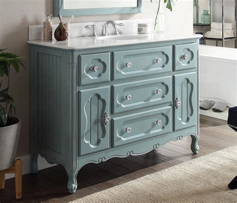 48 Inch Bathroom Vanity Cottage Beach Style Vintage Blue