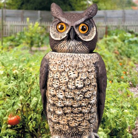 owl for garden bobbing owl decoy rabbit repellent