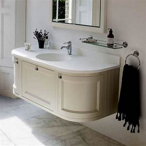 burlington 134 curved wall hung vanity unit uk bathrooms With curved bathroom units