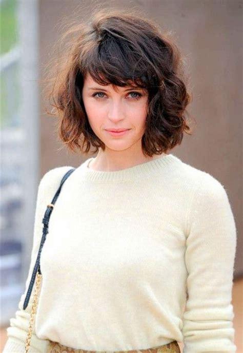 bangs short bangs  curly hair  pinterest fringe short
