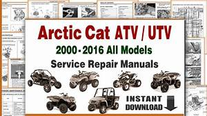 Download Arctic Cat Atv Utv All Models Service Repair