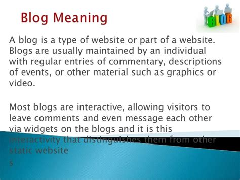 Blog meaning