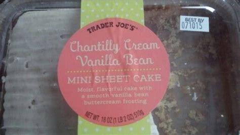 trader joes chantilly cream vanilla bean mini sheet cake