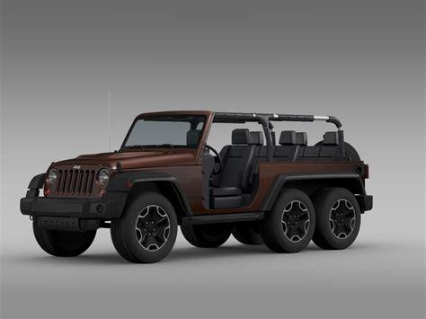Jeep Wrangler Rubicon 6x6 2016 3d Model .max .obj .3ds