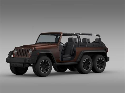 jeep models jeep wrangler rubicon 6x6 2016 3d model max obj 3ds